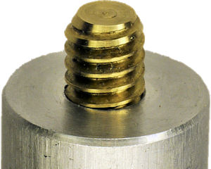 Brass screw to wear rather than camera
