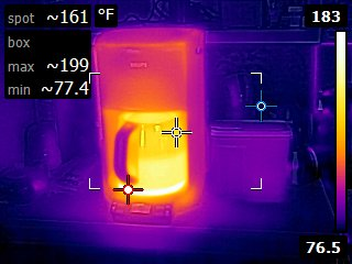 Coffee maker heating infrared