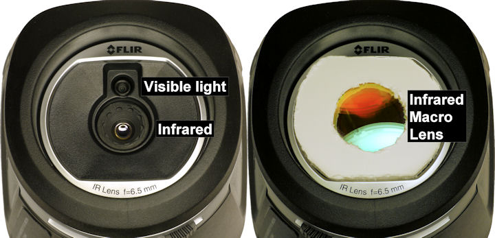 Flir E4 with mock up external lens