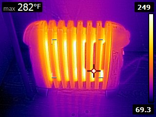 Space heater infrared
