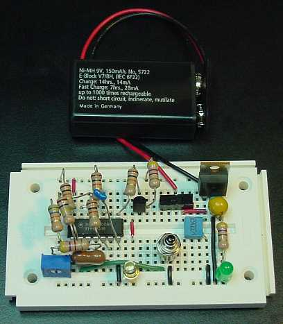 Infrared breadboard and battery