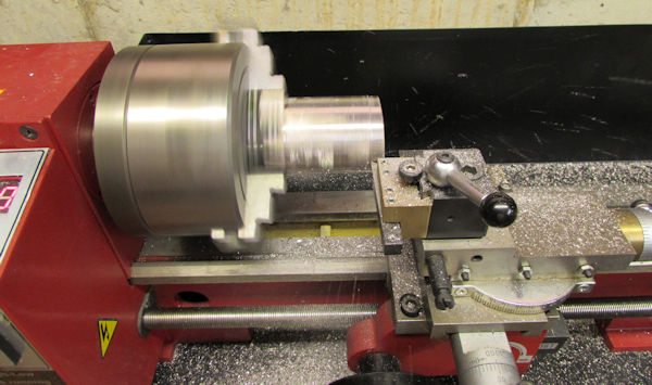 Block being machined