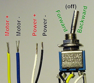 Motor direction wiring and toggle switch easiest way to reverse electric motor directions robot room Dpst Switch Wiring Diagram at soozxer.org