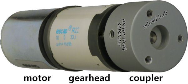 Escap gearhead motor with coupler