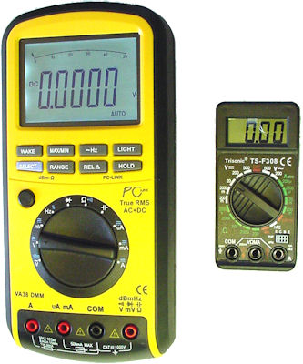 Difference in digital multimeter sizes