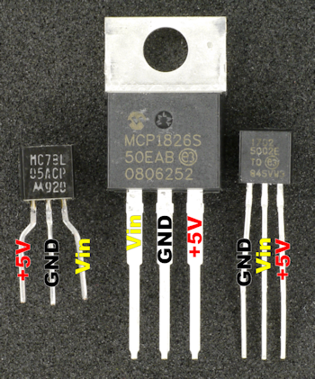 Voltage regulator pinouts