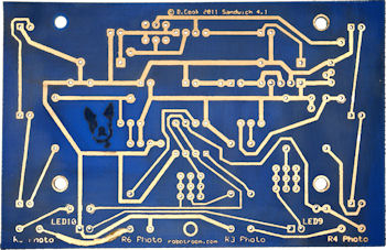 Red and Blue Color Printed Circuit Boards - Robot Room