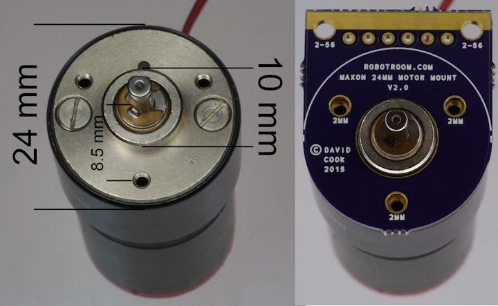 Maxon motor with gearhead dimensions