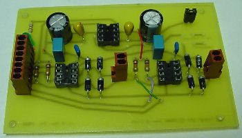 Completed one-sided circuit board.