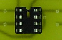 Because the artwork was flipped, the DIP chip socket no longer connects to the correct pins on the lower layer