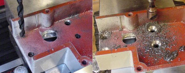 Drilling holes before countersinking is easier on light machinery.