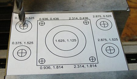 A paper template designed on a computer can be used to locate holes.