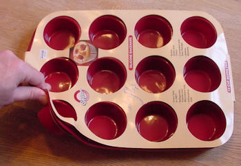 Wilton silicone bakeware 12 cup muffin pan.