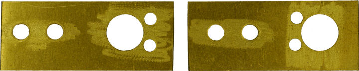 Thin brass motor mounting plates