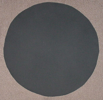 Mishapen sumo circle painted black
