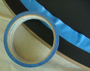 Close-up of tape and border