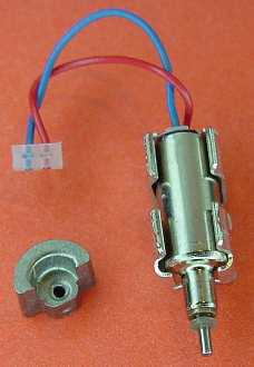 Tiny cell-phone motor with weight alongside