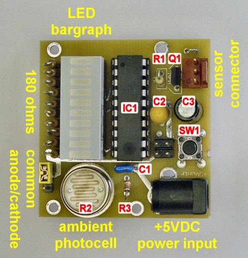 The main printed circuit board (PCB) for the water softener monitor.