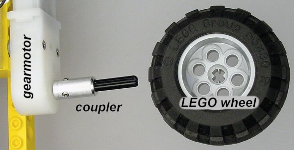 Connecting a LEGO Wheel to a DC Motor - Robot Room