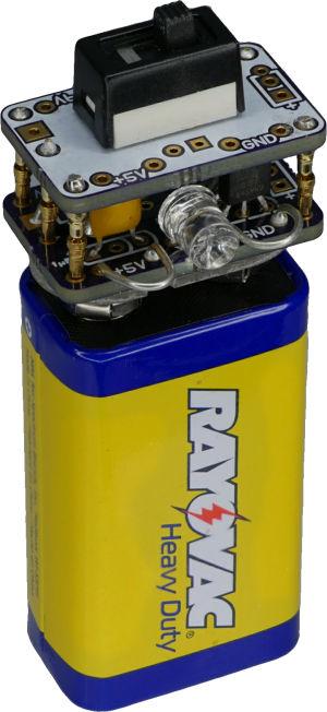 9v battery 5v regulator cap