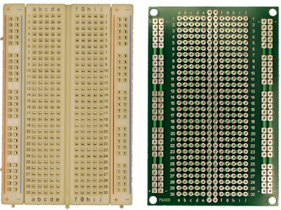 Solderless breadboard with 400 tie points and matching PCB